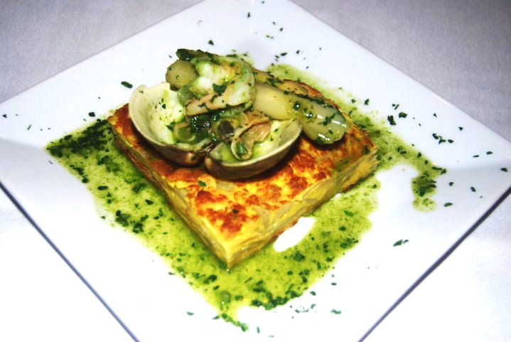 Spanish omelet in Green Sauce